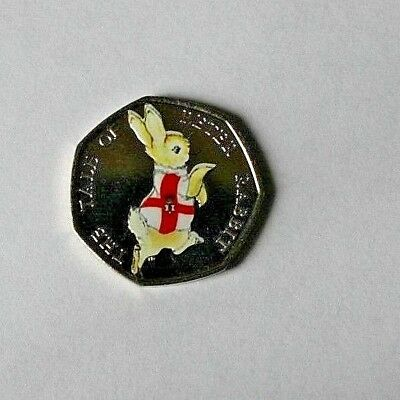 2017 Beatrix Potter PETER RABBIT Northern Ireland Colour decal 50p COIN 🐇