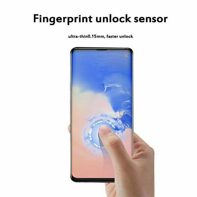 Dome Tempered Glass Screen Protector For Samsung Galaxy S10+ S10 Note 10 + Cover
