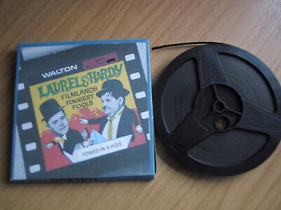 Super 8mm silent 1x400 TOWED IN A HOLE. Laurel and Hardy classic.