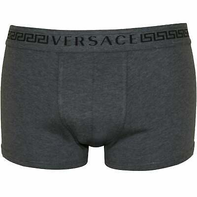 Versace Greca Signature Low-Rise Men's Boxer Trunk, Grey
