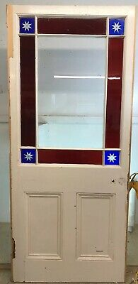 Large Victorian Stained Glass Door Reclaimed Period Old Antique Vestibule Porch