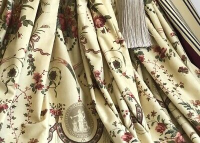 "ZOFFANY Interlined & Blackout Curtains REVEILLON 94""d French Toile 3 Pairs Avail"