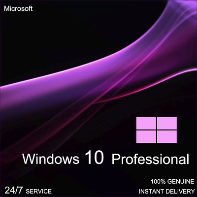 Genuine Windows 10 Professional Pro Key 32 / 64-Bit Activation Code License Key