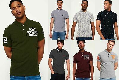New Mens Superdry Polo Shirts Selection - Various Styles & Colours 240119