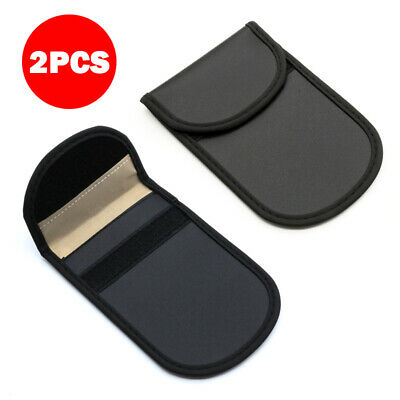 2pcs Car Key Holder Signal Case Faraday Cage Pouch Fob Keyless RFID Blocking Bag