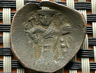 Ancient Byzantine Medieval Cup Coin Ae Trachy Unknown.