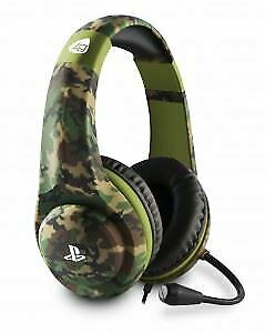 Official Licensed Sony PS4 PRO4-70 Camo Wired Gaming Headset Headphones & Mic