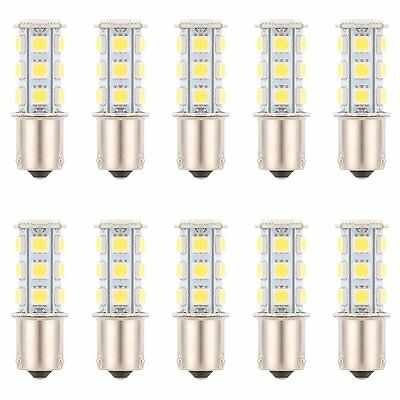 10 X White 1156 BA15S 18SMD 5050 LED Light Bulbs Turn Signal Backup Reverse 1141