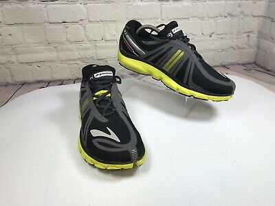 28fd2db1c18 BROOKS PURE CADENCE 2 Mens Black Gray Yellow Running Shoes Size 8.5 ...