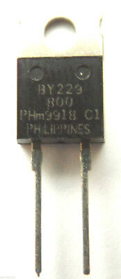 BY229-800 GENUINE Philips Diode Switching 800V 8A 2-Pin TO-220/2