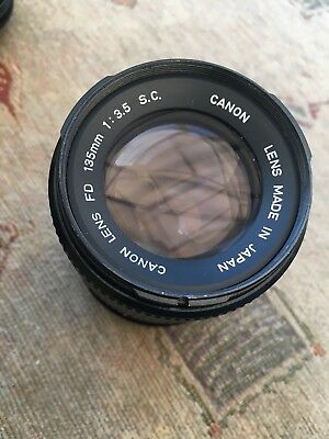 Lens Canon FD 135mm 3.5 Special Coating