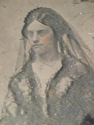 54768 Ca 1850 Ambrotype Photo Laura wife of US Senator DH Armstrong St Louis MO