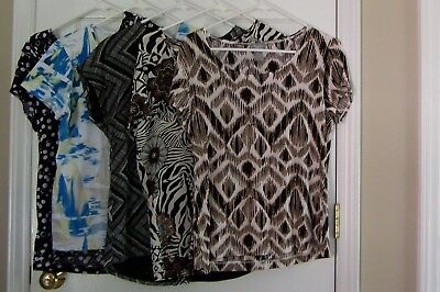 ce26ef4ee3ab53 CHICOS TRAVELERS LOT of 4 Womens Tanks  Travelers Tanks  Chicos Size ...