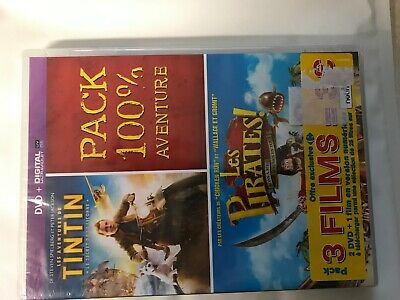 Tintin Le Secret De La Licorne + Les Pirates  - Dvd Neuf Sous Cello