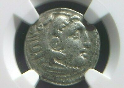 Silver Drachm of Alexander III the Great, 336-323 BC NGC VF  2019