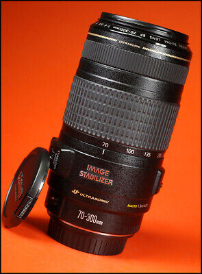 Canon EF 70-300mm IS USM F4-5.6 Image Stabilizer Zoom Lens With Front & Rear Cap
