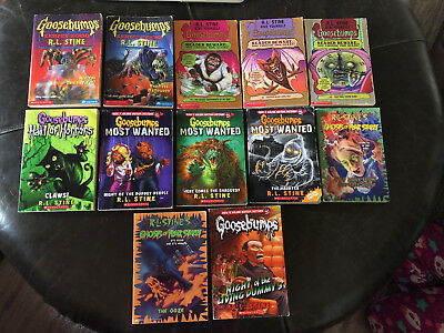 Set Of 10 Goosebumps Books And 2 Ghosts Of Fear Street Books, By R.l. Stine