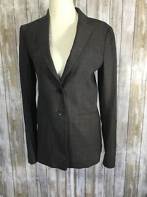Ann Taylor Black Double Breasted Long Sleeve Career Work Blazer Jacket 12 Wool Clothing, Shoes & Accessories