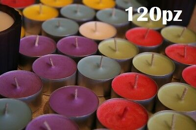 Set 120 Pezzi Candele Colorate Assortite Profumate Fragranza Tealight Lumini moc