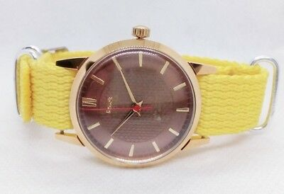 Authentic H.m.t Sona Super Slim Hand-Winding Made In India Men's Wristwatch