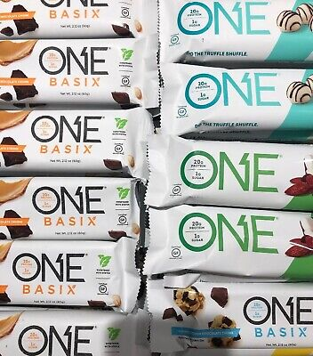 ONE Protein 32 Bars Peanut Butter Chocolate Chunk Truffle Coconut BB 5/2019+