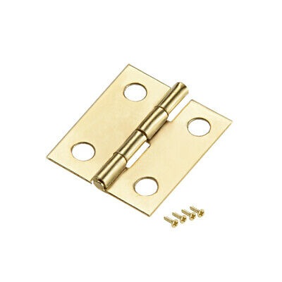 """0.7"""" Small Butt Hinge Jewelry Case Wooden Box Hinges Fittings Golden Plain 20pcs"""