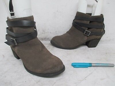 d09b976a8 Dolce Vita Distressed Brown Suede Leather Ankle Fashion Boots Size 6.5