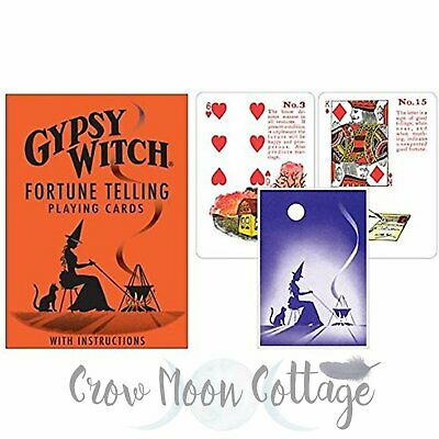 Gypsy Witch Fortune Telling Card Deck Wiccan Pagan Witch Lenormand Cards