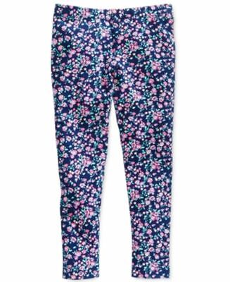 Epic Threads Toddler Girls Pink Purple Floral Print Leggings Blue Size 4T