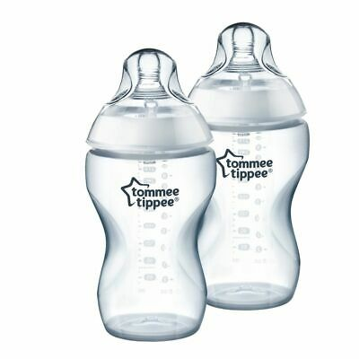 Tommee Tippee Closer to Nature Baby Newborn Kid Child White Bottle 340ml 2pk