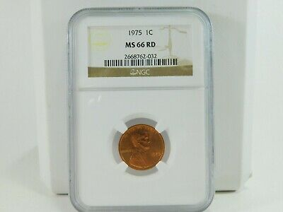 1975 NGC 1C MS 66 RD Lincoln Memorial Cent Uncirculated Certified Coin AH0140