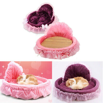 Pet Cat Dog Ruffle Bed Mat Kennel Doggy Puppy Lace Basket Pad Soft Cozy Cushion