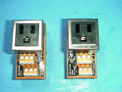 Lot of 2) Weidmuller 9915480000 RS Simplex 120 VAC Single Outlet Receptacle