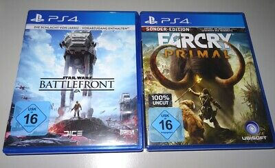 2 PS4 Spiele: Star Wars Battlefront + FarCry Primal (Sony PlayStation 4)