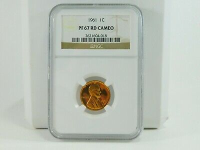 1961 NGC 1C PF 67 RD  Lincoln Memorial Cent Uncirculated Certified Coin AH0144
