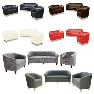 Claridon Sofa Collection-PU Leather or Crushed Velvet Fabric-Six Colour Options