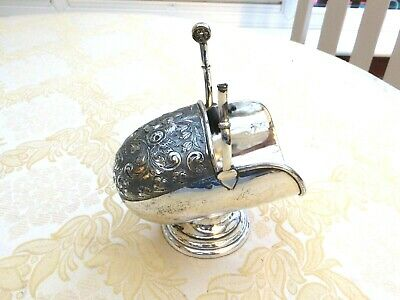 Art Deco Silver Plated Floral Patterned Sugar Scuttle & Scoop   1400759/763