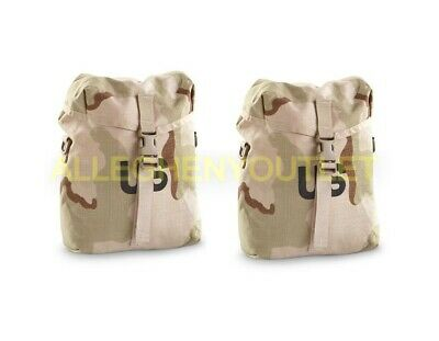 QTY (2) - USGI Military MOLLE SDS Rucksack Sustainment Pouch 3-Color Desert NIB