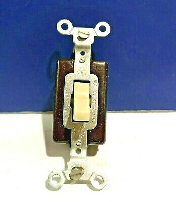 10-PK Guaranteed Wiring Devices IVORY Single Gang 3-Way Toggle Switch 3303-I NEW