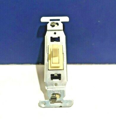 10-PK EAGLE Single Gang IVORY Three Way Toggle Switch Side WIRE 1223 NEW WOW