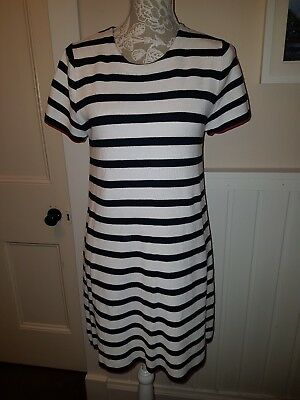 469fb510dbc6 ZARA KNIT BLUE & White Stripe Dress Stretch Size M - $9.13 | PicClick
