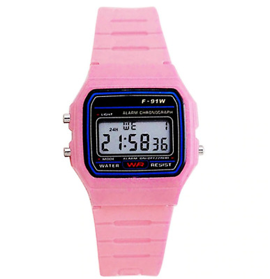 Casio Women's Classic Digital Quartz Resin Pink Watch F-91W Stopwatch Alarm