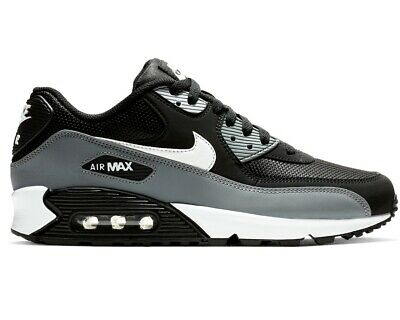best loved 928ce 8a9b4 Nike Air Max 90 Essential AJ1285 018 Mens Trainers Black Grey Gym Running  Shoes