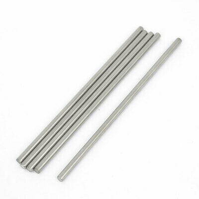 5 Pcs RC Airplane Model Part Stainless Steel Round Rods Axles Bars 3mm x 90mm
