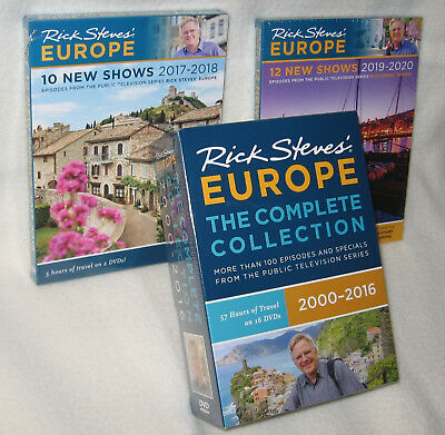 NEW Rick Steves' Europe Complete Collection EVERY EPISODE INCL 2019-2020 SEASON!