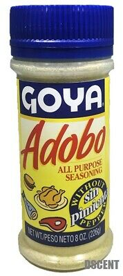 Goya  Adobo All Purpose Seasoning Sin Pimienta-Without Pepper 8 oz (226g)
