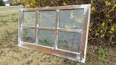 Vintage Sash Antique Wood Window, One Of A Kind, 36X20 Stained Rustic Decor