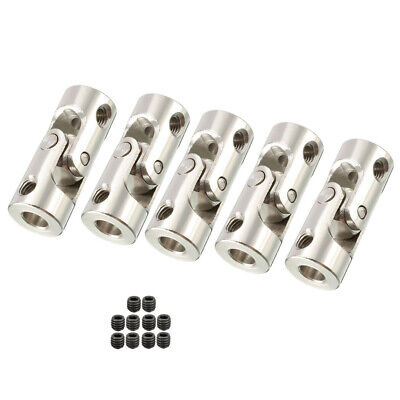 5PCS 4mm to 4mm Rotatable Universal Steering Shaft U Joint Coupler L23XD9