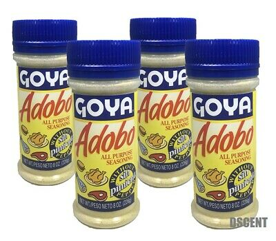 4 Pack Goya  Adobo All Purpose Seasoning Sin Pimienta-Without Pepper 8 oz (226g)