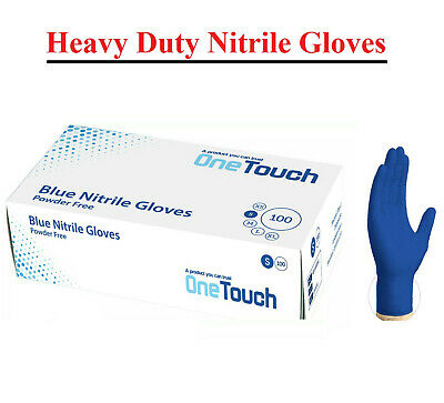 Blue Nitrile Disposable Gloves | Box of 100 | Powder Free Latex Free OneTouch